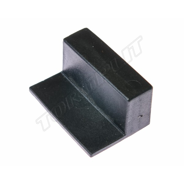 Опора ламели накладная 8х38 черная