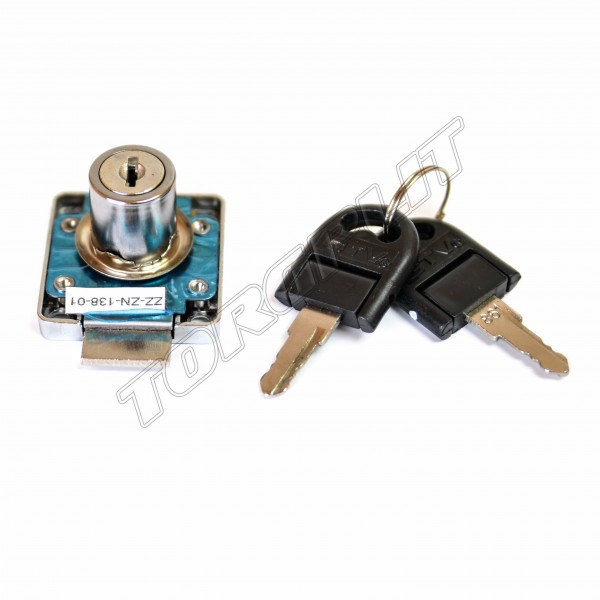 Замок квадратный хром 138+ключ GTV ZZ-ZN-138-01