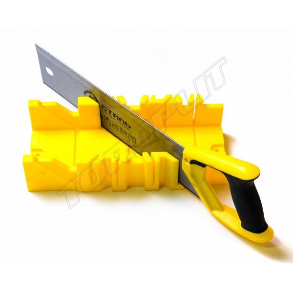 Ножовка пасовочная 350мм+пластиковое стусло Сталь 40600