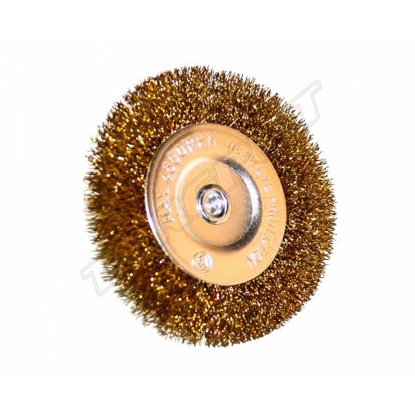 Щетка крацовка дисковая лат. со шпилькой 75мм 18-061
