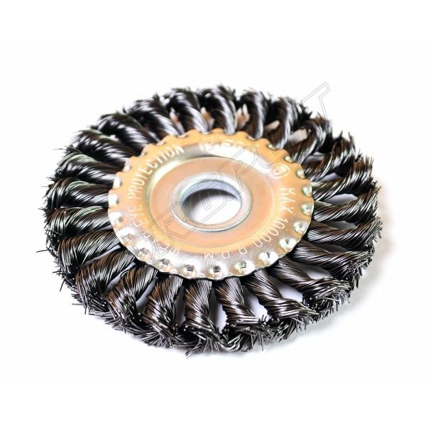 Щетка  дисковая 125мм плетеная проволока М14 WERK WE107425