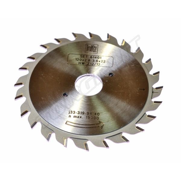 Пила дисковая HW:D120,d22,Z12/12 61401 LEITZ